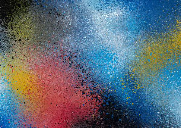 Closeup of a colorful graffiti