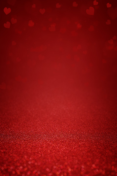 Glittering red abstract background with hearts