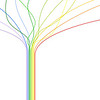 Abstract tree of colorful lines