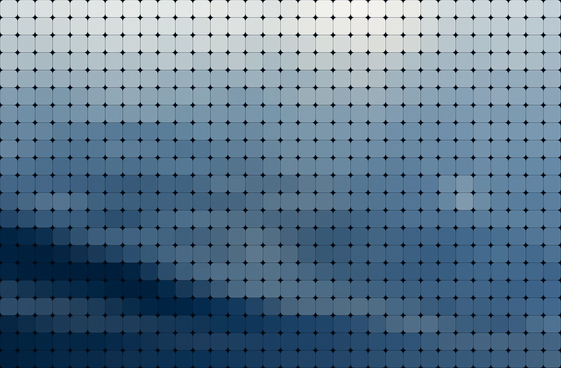 Abstract background of rounded blue squares