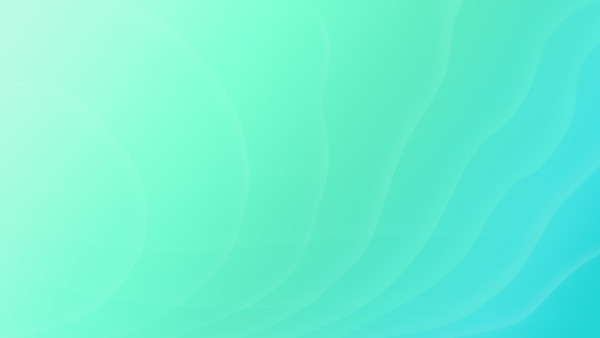 Curvy and soft lines on turquoise background