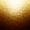 Abstract gold colored low poly background