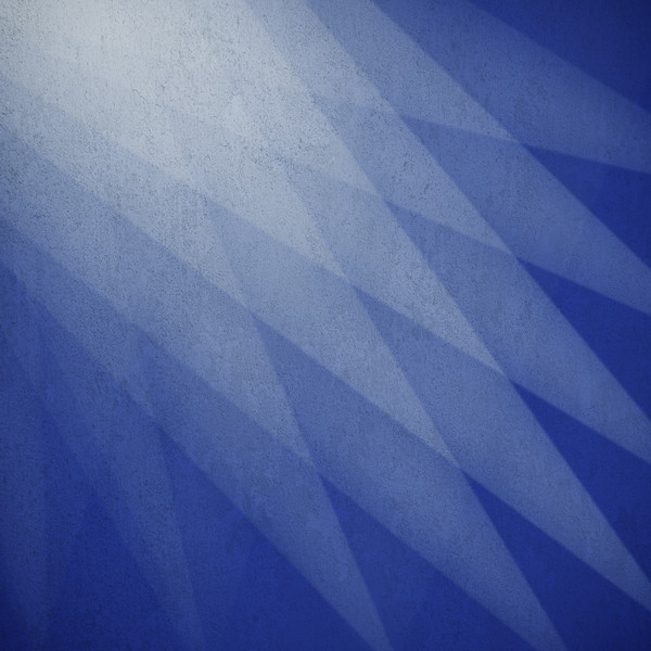 Abstract white and blue background with geometric shapes