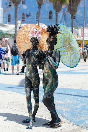 Art Body Painter Trina Merry Seen in Venice