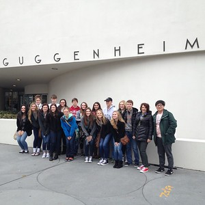 Guggenheim tour with former student Ace Kim '09