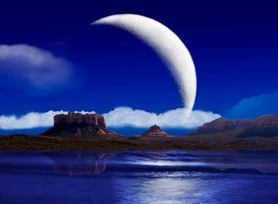 Sedona moon oceanscape
