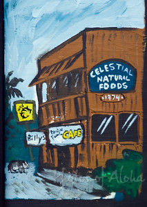 Reef Hawaiian Pro 2008, detail of muralAli'i Beachpark, Hale'iwaNorth Shore of Hawaii, November, 2008Art by DrewToonz Andrew Miller, artist