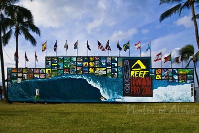 Triple Crown of SurfingReef Hawaiian Pro 2008Ali'i Beachpark, Hale'iwaNorth Shore of Hawaii, November, 2008Art by DrewToonz Andrew Miller, artist