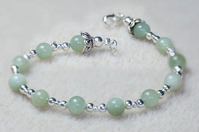 Jade & Silver beads