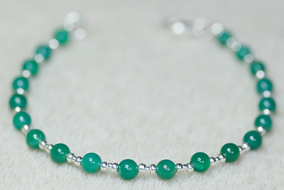 Emerald & Silver beads