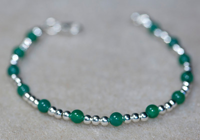 Emerald & Silver beads