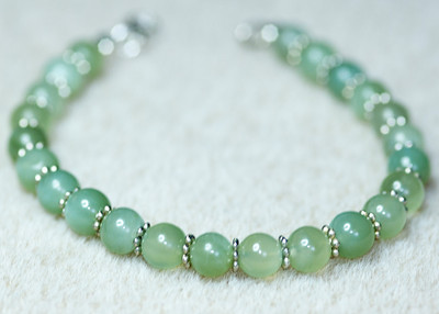 Aventurine and Silver spacers
