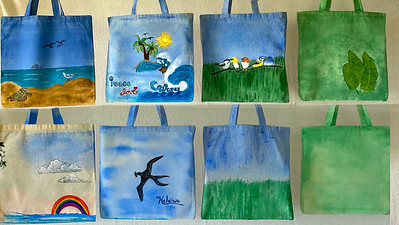Canvas Bags, Painted