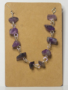 Amethyst chips on Silver