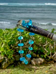 Beach Seaglass on a Paintbrush