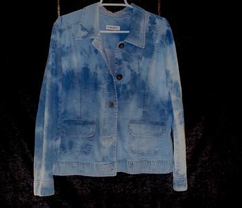 Reverse Tie-dyed Blue jean Jacket