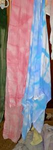 Shibori tie dyed cotton