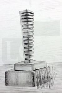 Savannah Shaye Dismore (9), Seek and Sketch Black and White, Graphite on Paper