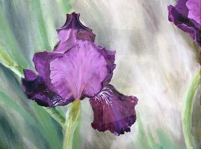 Josie Murphy (10), Iris, Oil on Canvas