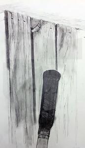 Mikey Villavicencio (12), On-Site Drawing, Graphite on Paper