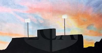 Kelly Kiernan (11), Friday Night Lights, Pastels and Acrylic on Paper