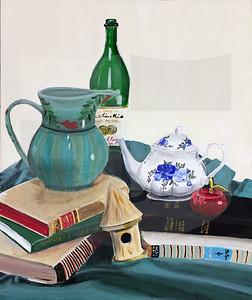 Brianne Loe (11), Still Life, Acrylic on Canvas
