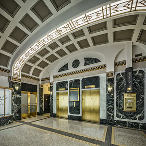 Scarbrough Building Lobby, Austin (1931 remodel). 17mm T/S