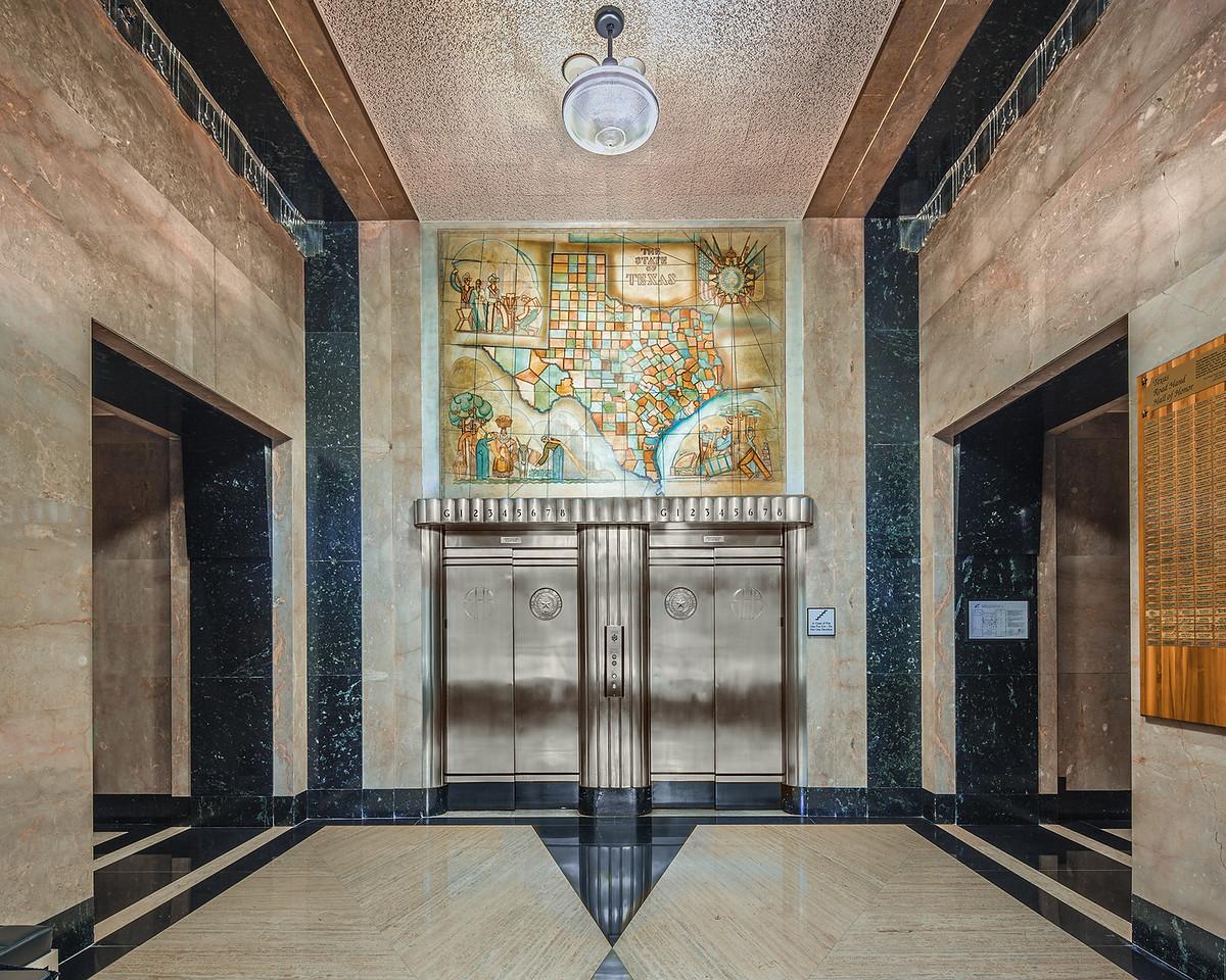 Lobby of Dewitt C. Greer State Highway Building, Austin (1931).  17mm T/S
