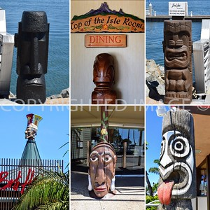All Tikis are at the Bali Hai Restaurant, with the exception of the last one, which is at Trader Mort's Restaurant