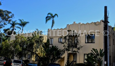 525 Nutmeg Street and 2650-2680 6th Avenue, Uptown San Diego, CA - 1930 Le Moderne Apartments, Art Deco Style