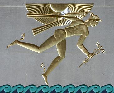Hermes. Rockefeller Centre wall relief.