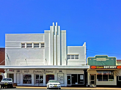 17 October 2013: Former Savoy Plaza cinema, and adjacent butchery, Coonabarabran, New South Wales.