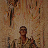 Australian War Memorial; Soldier: Hall of Memory wall mosaic (detail), by M Napier Waller.