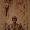 Australian War Memorial; Soldier: Hall of Memory wall mosaic (detail), by M Napier Waller.