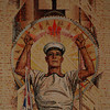 Australian War Memorial; Sailor: Hall of Memory wall mosaic (detail), by M Napier Waller.