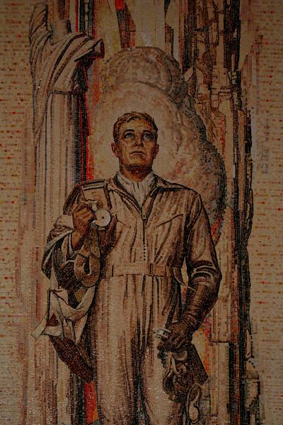 Australian War Memorial; Airman: Hall of Memory wall mosaic (detail), by M Napier Waller.