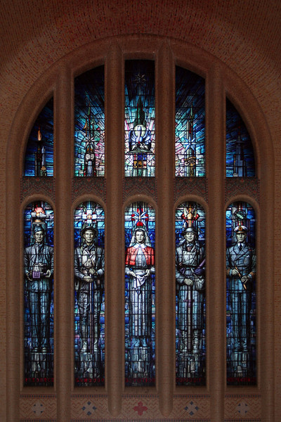 South window of the Hall of Memory at the Australian War Memorial, Canberra, designed by M Napier Waller.