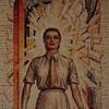 Australian War Memorial; Women's Services: Hall of Memory wall mosaic (detail), by M Napier Waller.