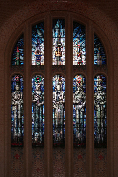 West window of the Hall of Memory at the Australian War Memorial, Canberra, designed by M Napier Waller.