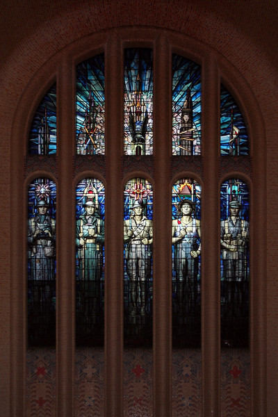 East window of the Hall of Memory at the Australian War Memorial, Canberra, designed by M Napier Waller.