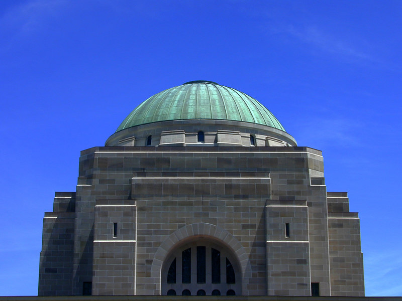 Australian War Memorial; Hall of Memory exterior.