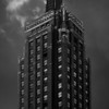 Tower: Carbide and Carbon Building, Chicago, Illinois (b&w version).