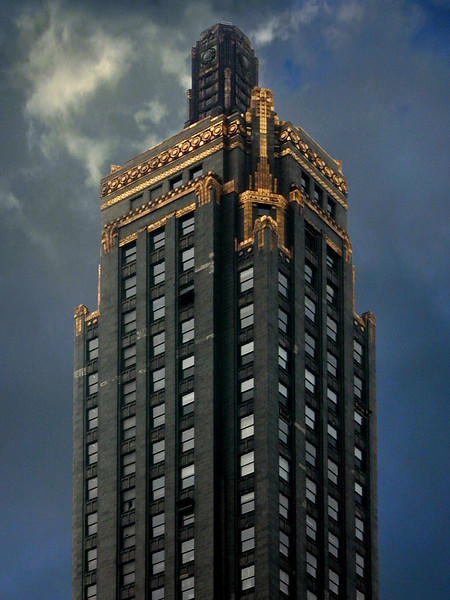 Tower: Carbide and Carbon Building, Chicago, Illinois.