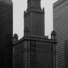 Early 20th Century skyscraper, central downtown Chicago, Illinois (b&w version).