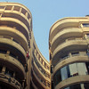 Streamlined Art Deco apartment buildings in downtown Cairo.