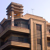 Art Deco apartment building in Heliopolis on the outskirts of Cairo.