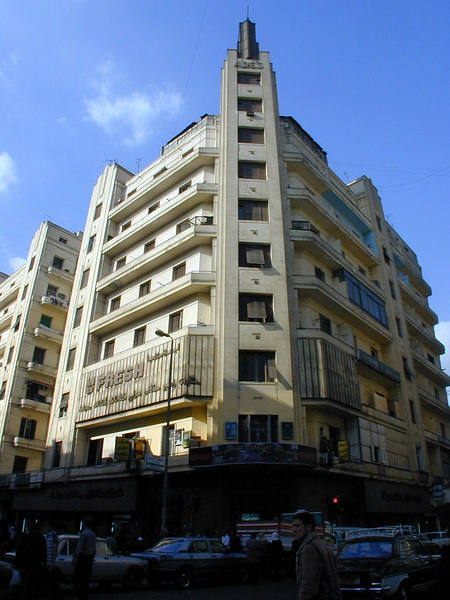 Ades Building, downtown Cairo. There are numerous Art Deco-era buildings of this scale and type throughout the downtown areas of both Cairo and Alexandria. They may be run-down, but at least they haven't fallen victim to the wrecker's ball.