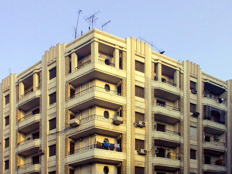 Art Deco apartment building in downtown Cairo.