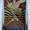 """Wisdom & Knowledge Shall be the Stability of thy Times"". Entranceway relief sculpture by Lee Lawrie, RCA Building, Rockefeller Centre, New York City."