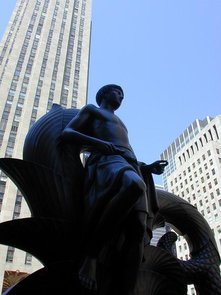 Sculpture by Paul Manship, Rockefeller Centre.